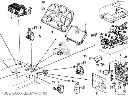 honda crx 1989  k  2dr si  ka kl  parts lists and schematics