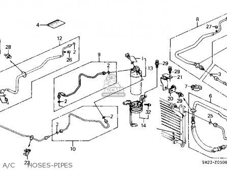 honda crx 1990 l 2dr si ka kl ac hoses pipes_medium00027093BOP05_fc33 2006 gmc canyon fuse box diagram 2006 find image about wiring,2006 Isuzu I 10 Fuse Box