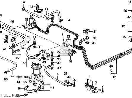 Honda Crx 1991 M 2dr Si Kakl Parts Lists And Schematics. Fuel Pipe. Honda. Honda Crx Suspension Schematic At Scoala.co