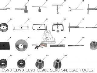CS90 CD90 CL90 CL90L SL90 SPECIAL TOOLS - CS90 CD90 CL90 CL90L SL90 SPECIAL TOOLS