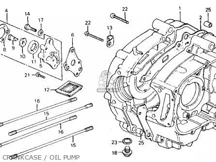 Honda Ct110 Trail 110 1980 a Usa Crankcase   Oil Pump