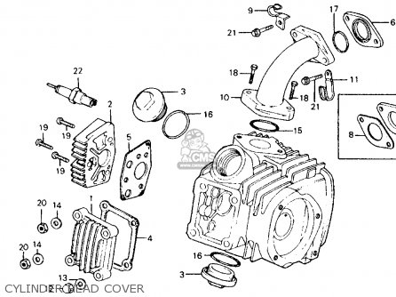 Honda Ct110 Trail 110 1980 a Usa Cylinder Head Cover
