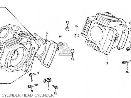 Honda Ct110 Trail 110 1980 a Usa Cylinder Head Cylinder