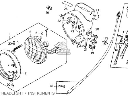 Honda Ct110 Trail 110 1980 a Usa Headlight   Instruments