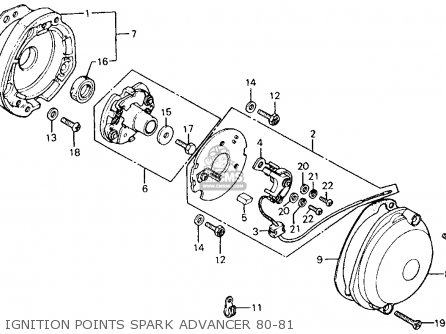 Honda Ct110 Trail 110 1980 a Usa Ignition Points Spark Advancer 80-81