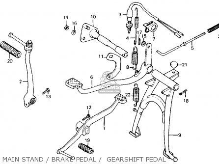 Honda Ct110 Trail 110 1980 a Usa Main Stand   Brake Pedal    Gearshift Pedal