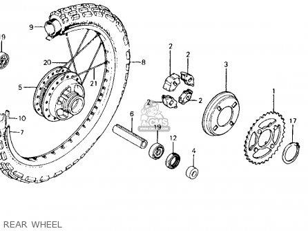 Honda Ct110 Trail 110 1980 a Usa Rear Wheel