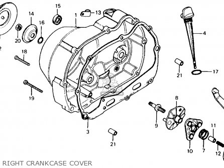 Honda Ct110 Trail 110 1980 a Usa Right Crankcase Cover