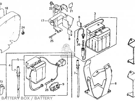 Honda Ct110 Trail 110 1980 Usa Battery Box   Battery