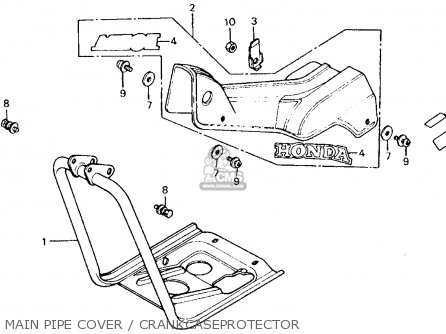 Honda Ct110 Trail 110 1980 Usa Main Pipe Cover   Crankcaseprotector