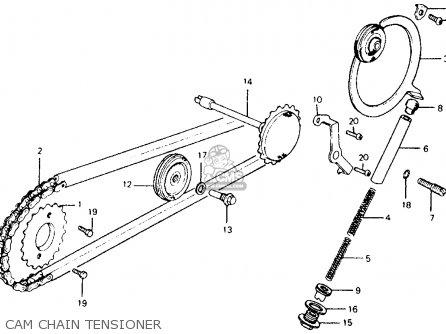 Honda Ct110 Trail 110 1981 b Usa Cam Chain Tensioner