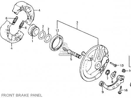 Honda Ct110 Trail 110 1981 b Usa Front Brake Panel
