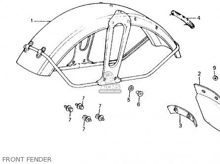 Honda Ct110 Trail 110 1981 b Usa Front Fender
