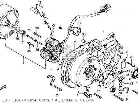 Honda Ct110 Trail 110 1981 b Usa Left Crankcase Cover Alternator 81-86