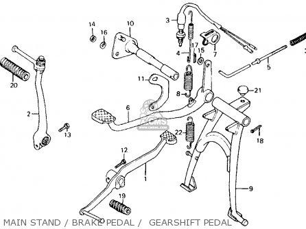 Honda Ct110 Trail 110 1981 b Usa Main Stand   Brake Pedal    Gearshift Pedal