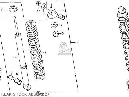 Honda Ct110 Trail 110 1981 b Usa Rear Shock Absorber