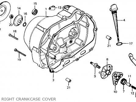 Honda Ct110 Trail 110 1981 b Usa Right Crankcase Cover