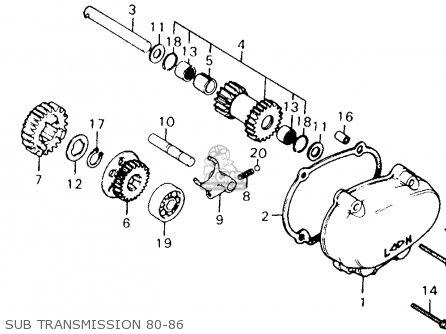 Honda Ct110 Trail 110 1981 b Usa Sub Transmission 80-86