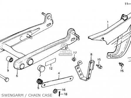 Honda Ct110 Trail 110 1981 b Usa Swingarm   Chain Case