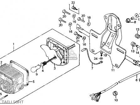 Honda Ct110 Trail 110 1981 b Usa Taillight