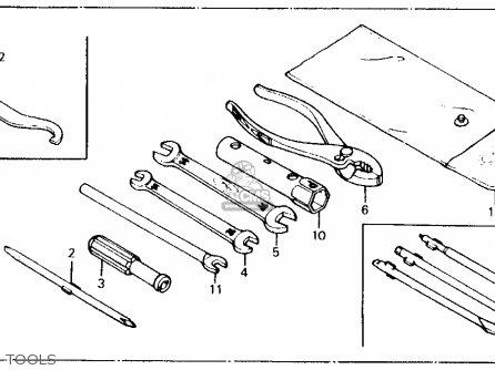 Honda Ct110 Trail 110 1981 b Usa Tools