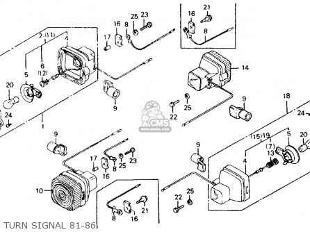 Honda Ct110 Trail 110 1981 b Usa Turn Signal 81-86