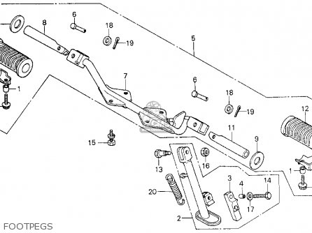 Honda Ct110 Trail 110 1981 Usa Footpegs