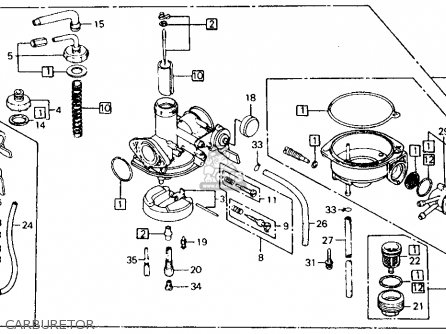 rear engine diagram 3800 v6 engine honda ct110 trail 110 1982 usa parts list partsmanual ...
