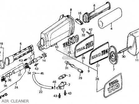 Honda Ct110 Trail 1980 a Usa Air Cleaner
