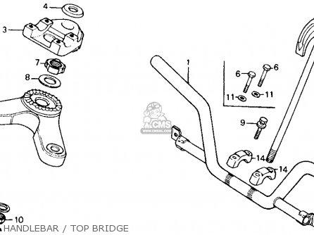Honda Ct110 Trail 1980 a Usa Handlebar   Top Bridge