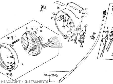 Honda Ct110 Trail 1980 a Usa Headlight   Instruments