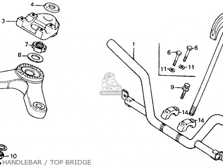 Honda Ct110 Trail 1982 c Usa Washington Police Handlebar   Top Bridge