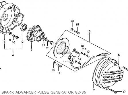 Honda Ct110 Trail 1982 c Usa Washington Police Spark Advancer Pulse Generator 82-86