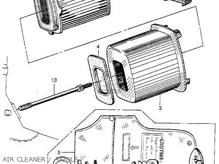 Honda Ct200 Trail 1964 Usa Air Cleaner    Tools