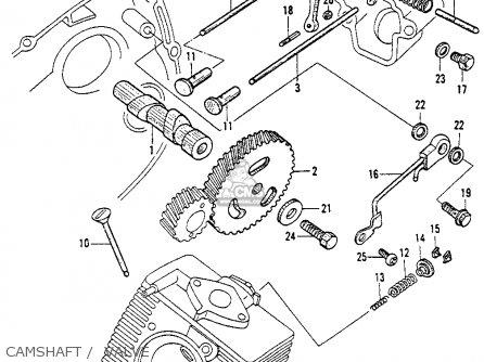 Honda Ct200 Trail 1964 Usa Camshaft    Valve