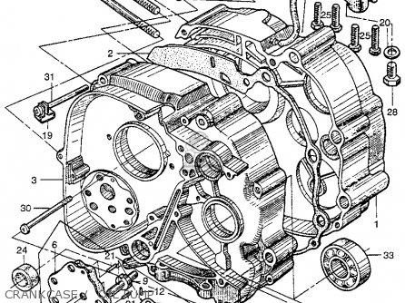 Honda Ct200 Trail 1964 Usa Crankcase    Oil Pump