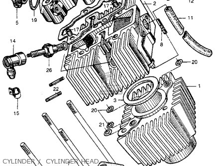 Honda Ct200 Trail 1964 Usa Cylinder    Cylinder Head