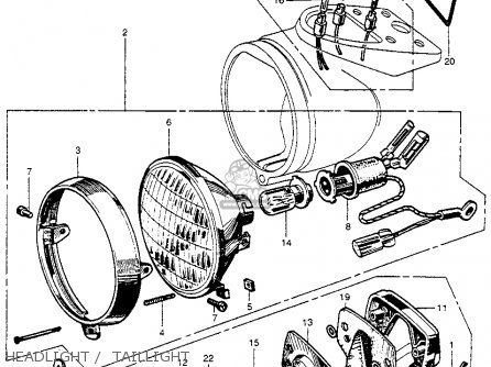 Honda Ct200 Trail 1964 Usa Headlight    Taillight
