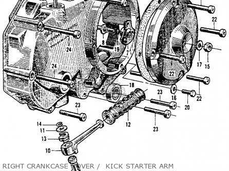 Honda Ct200 Trail 1964 Usa Right Crankcase Cover    Kick Starter Arm