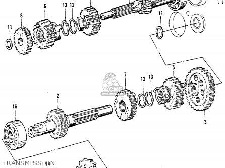 Honda Ct200 Trail 1964 Usa Transmission
