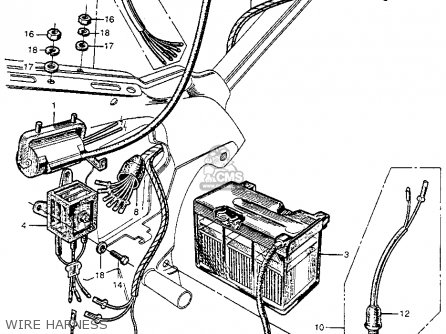 Honda Ct90 Battery Wiring Diagram on motorcycle headlight switch wiring diagram