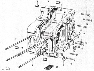 Honda Ct50 E-12