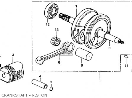 Honda Ct50jc japan Motra Crankshaft - Piston