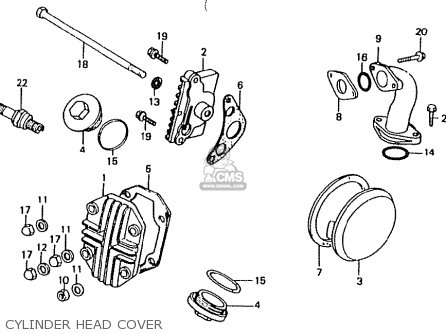 Honda Ct50jc japan Motra Cylinder Head Cover