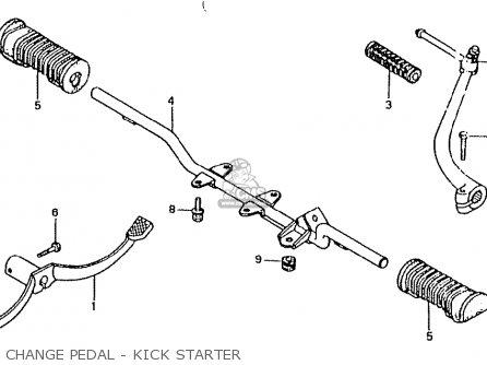 Honda Ct50jc Motra Japan Change Pedal - Kick Starter
