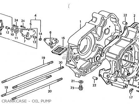 Honda Ct50jc Motra Japan Crankcase - Oil Pump