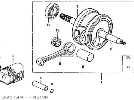 Honda Ct50jc Motra Japan Crankshaft - Piston