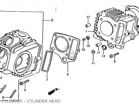 Honda Ct50jc Motra Japan Cylinder - Cylinder Head