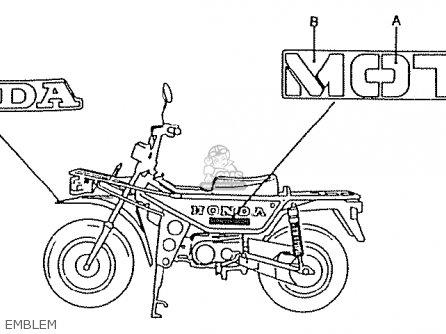Honda Ct50jc Motra Japan Emblem