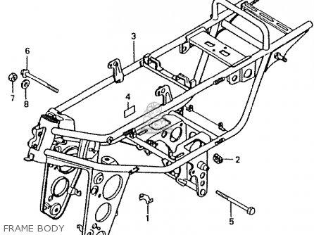Honda Ct50jc Motra Japan Frame Body